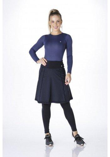 saia cala comprida moda fitness evangelica alta compressao linha preta