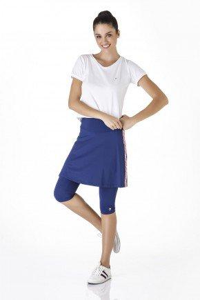 saia calca azul marinho fitness evangelica com galao epulari frente