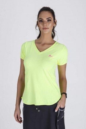 blusa fitness feminina alongada amarelo neon epulari