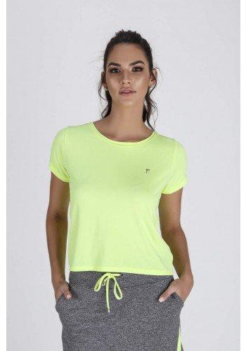 blusa fitness feminina cropped amarelo neon epulari