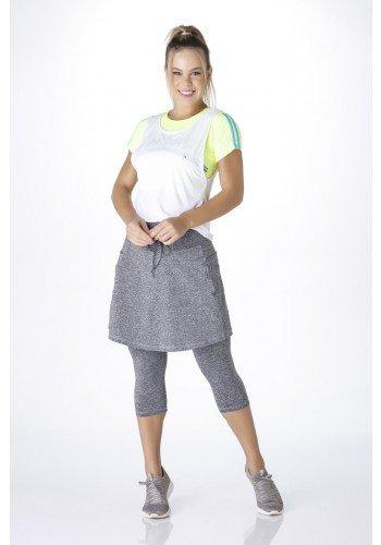 saia calca fitness evangelica mescla com bolsos frente