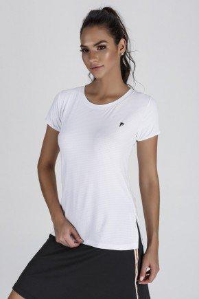 blusa fitness feminina branca abertura lateral epulari