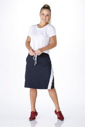 shorts saia preto com branco poliamida uv50 epulari frente ep034