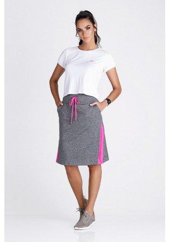 saia calca fitness evangelica epulari mescla detalhe rosa frente ep003rsa