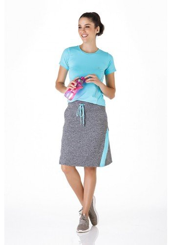 shorts saia mescla com azul claro fitness epulari frente ep033