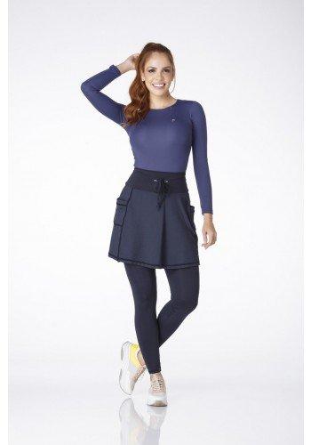 ep0191 saia calca comprida preta com bolsos fitness evangelica epulari frente