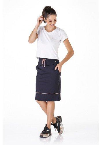 shorts saia preto fio rosa alta compressao anti celulite uv50 epulari frente