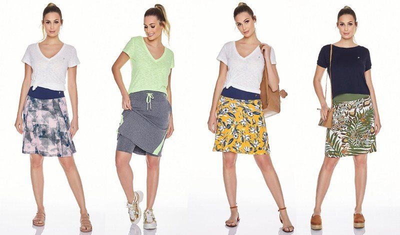 saia shorts modelos look fitness evangelico caminhada na praia
