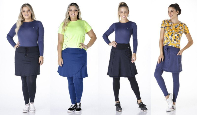 02 modelo plus size moda evangelica modelo de saia calca fitness easy resize com