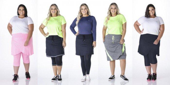 Combinações de roupas de academia para mulheres plus size