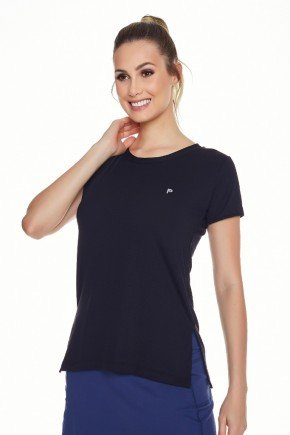 t shirts feminina casual esportiva fitness preta protecao uv50 frente