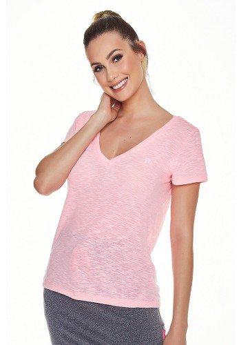 t shirt podrinha casual esportiva rosa neon epulari ep038rs frente