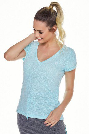 t shirt podrinha casual esportiva azul claro epulari ep038az frente