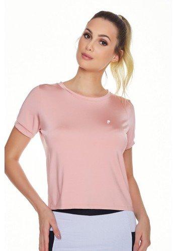 t shirt cropped fitness rose poliamida leve manga curta uv50 epulari frente cima