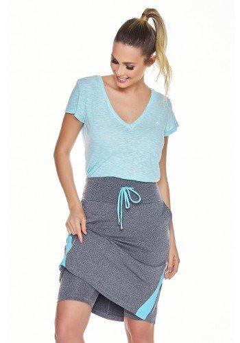 saia shorts fitness evangelica epulari mescla detalhe azul frente detalhe cima