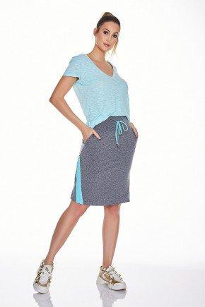 saia shorts fitness evangelica epulari mescla detalhe azul frente