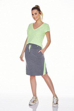 saia shorts fitness evangelica epulari mescla detalhe amarelo frente
