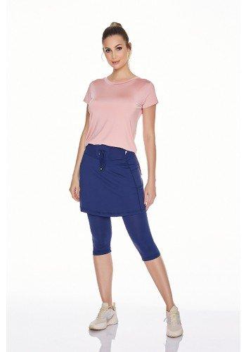 saia calca azul marinho fitness evangelica poliamida uv50 epulari frente