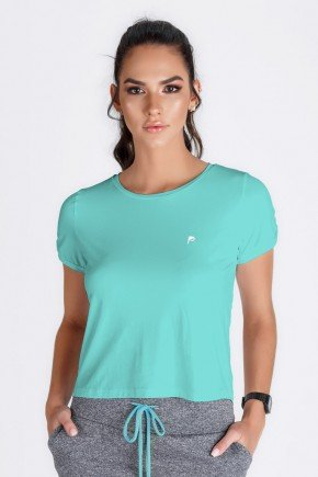 t shirts cropped azul fitness uv50 epulari frente