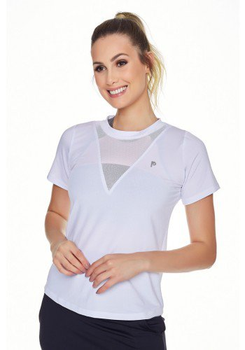 t shirts fitness feminina dry detalhe furadinho manga curta epulari frente