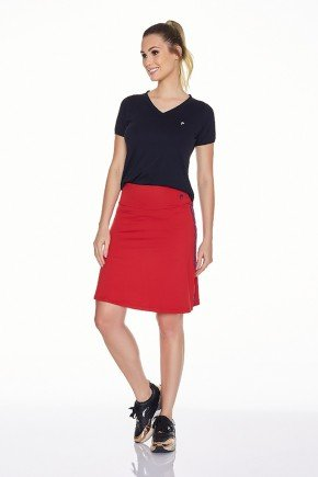 shorts saia vermelho poliamida uv50 epulari frente