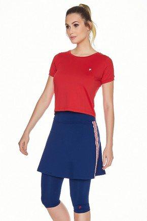 saia calca azul marinho fitness evangelica com galao epulari ep072 frente