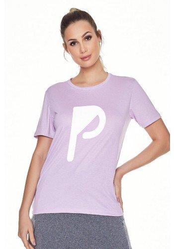 t shirt fitness feminina lilas com estampa p