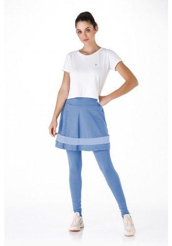 saia calca fitness evangelica azul claro alta compressao poliamida leve e macia epulari frente
