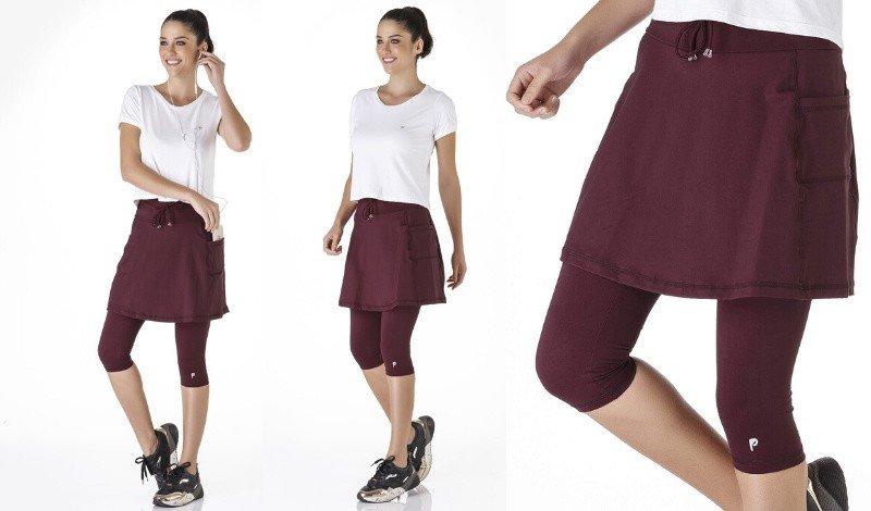 saia calca fitness evangelica moda modesta tecido emana plus