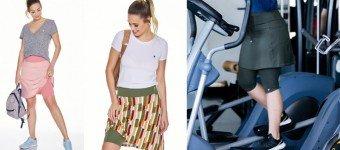capa saia shorts fitness evangelica moda modesta tecido emana plus