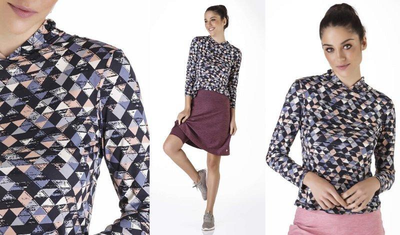 blusa manga longa estampada repelente post blog moda evangelica fitnes