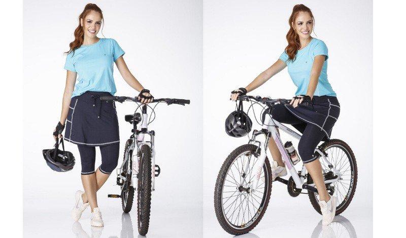 modelo calca saia andar de bicicleta saia blog moda fitness evangelica treino ao ar livre