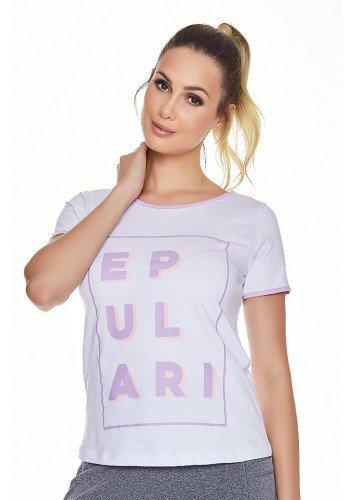 t shirt feminina lilas estampa epulari anti piling frente cima