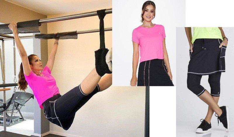 look moda evangelica fitness pilates saia calca post blog