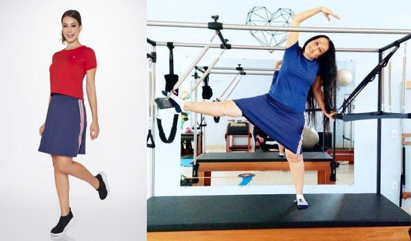 look moda evangelica fitness pilates saia shorts post blog
