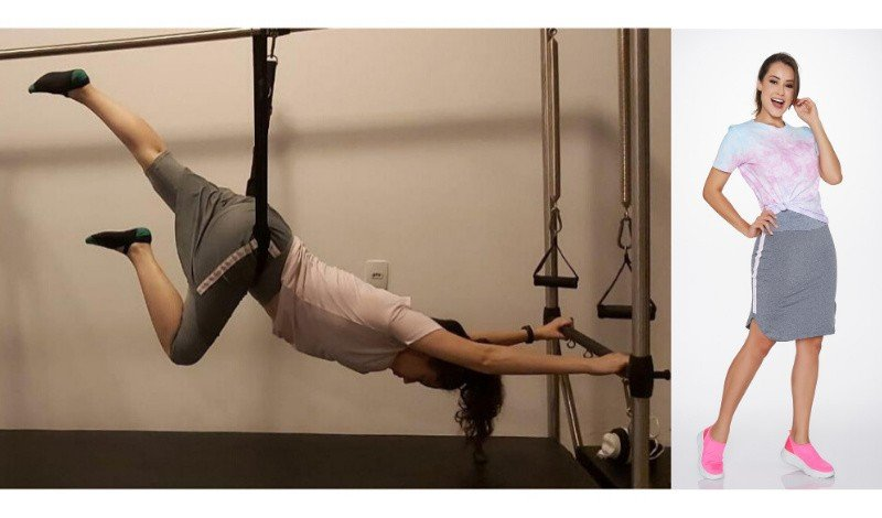 look moda evangelica fitness pilates saia shorts tshirt post blog