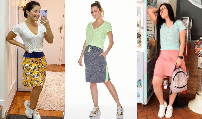 post blog moda fitness evangelica t shirt podrinha com saia shorts
