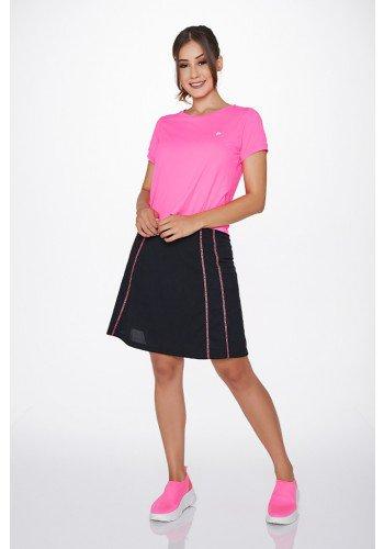 shorts saia preto poliamida costura rosa uv50 epulari ep0173 frente
