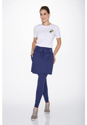 saia calca comprida azul marinho poliamida alta compressao epulari ep0193 frente