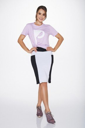 shorts saia fitness evangelica preta branca com bolsos uv50 epulari ep033pb frente