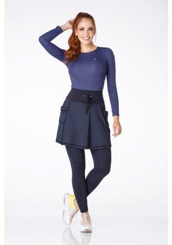 saia calca comprida preta com bolsos fitness evangelica epulari ep0191 frente