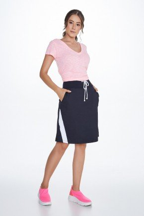 shorts saia preto com branco poliamida uv50 epulari ep034 frente