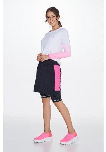 shorts saia ciclista com almofada epulari frente lado
