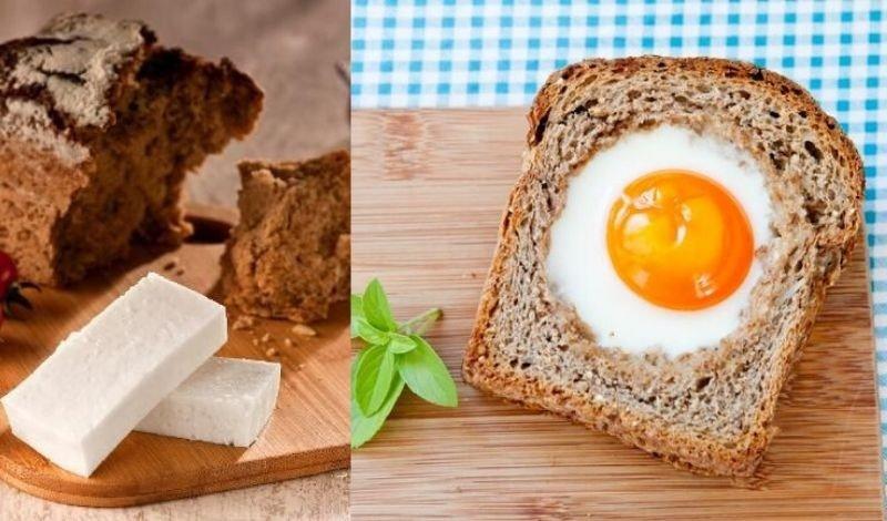 pao integral com ovo e queijo