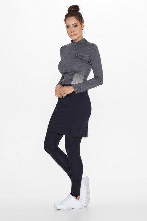 saia calca fitness elastico cintura preta uv50 epulari ep064 frente
