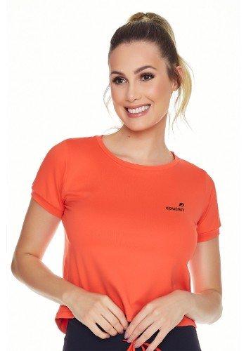 t shirt cropped laranja fitness poliamida uv50 epulari ep002lr frente
