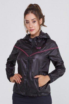 jaqueta feminina corta vento preto prova dagua epulari ep097 frente