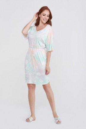 vestido tie dye viscolycra moda praia evangelica