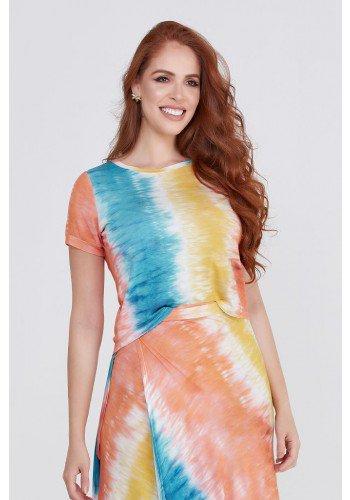 cropped malha viscolycra tie dye moda praia evangelica lekazis