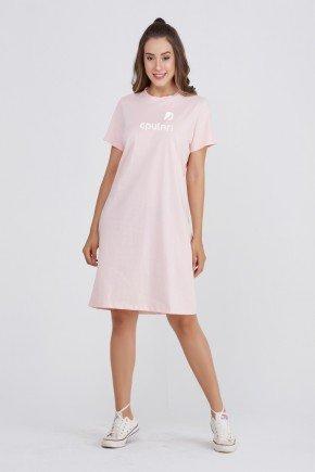 vestidocamisetao rosa claro solto algodao epulari